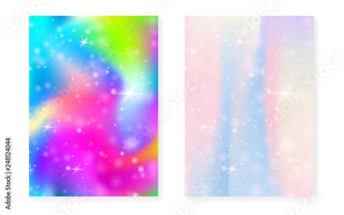 Princess Background With Kawaii Rainbow Gradient Magic