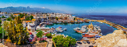 Photo Stands Cyprus Kyrenia marina in Cyprus