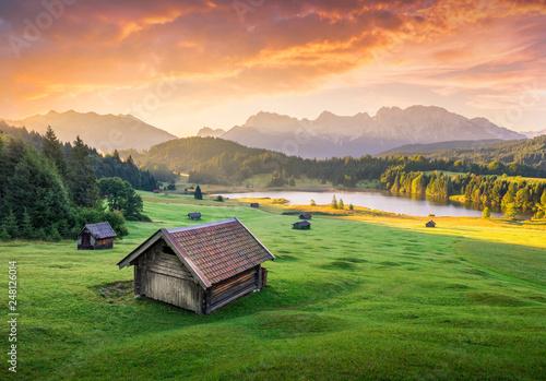 Türaufkleber Lachs Geroldsee, Bayern Alps, Krun, Bayern, Germany