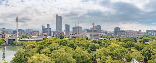 広島城天守からの広島市街地の眺望