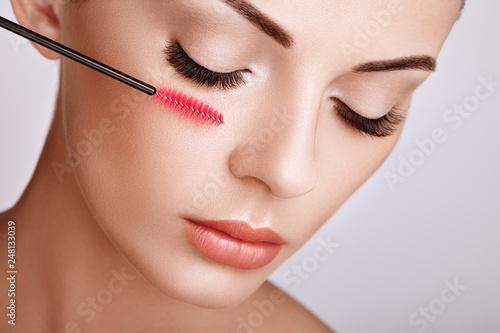 Valokuva  Beautiful Woman with Extreme Long False Eyelashes
