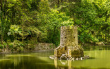 Lake in the Park of Pena in Sintra, Portugal - 248133225