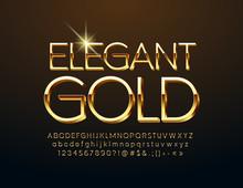 Vector Elegant Gold Alphabet L...