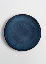New Blue Plate On Isolated White Background.