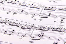 Close-up Of Sheet Music Page