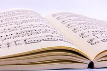 Opened Sheet Music Book