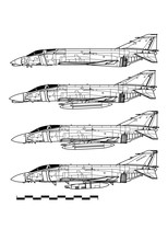 McDonnell Douglas F-4 PHANTOM II. Outline Drawing