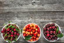 Assortment Of Fruit. Bowls Wit...