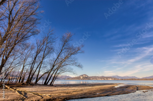 Valokuva  Overview of Lake Maggiore in Italy