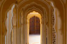 Archway Corridor In A Temple