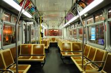 Shot Of Empty Subway Car