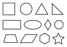 Simple Geometry Shapes Set. Ge...