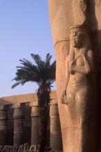 Karnak Temple With Pharoah Statues