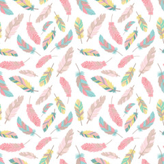Seamless boho pattern. Vector image on national American motifs. Illustration...