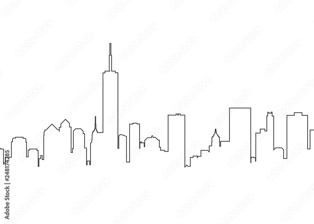 Fototapety, obrazy: City landscape line