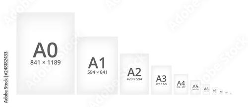Paper size standard formats of A series Wallpaper Mural
