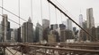 New York cityscape from broohlyn bridge United States of America