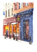 European Winter Street