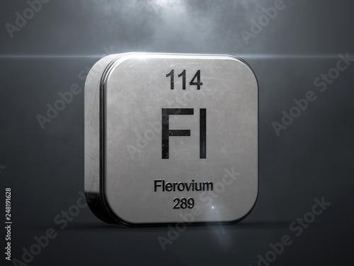 Papel de parede  Flerovium element 114 from the periodic table