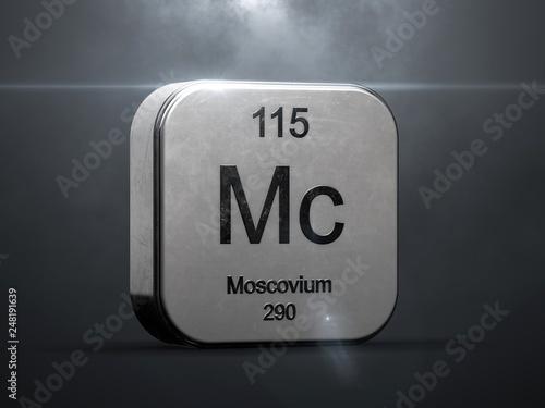 Fotografia  Moscovium element 115 from the periodic table