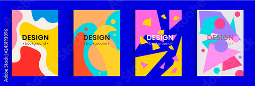 Fotografie, Obraz  Modern abstract covers set. Vector background texture design.