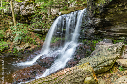 F. L. Ricketts Waterfall in Ricketts Glen State Park of Pennsylvania