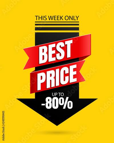 Fotografía  Special offer Best price banner template vector design