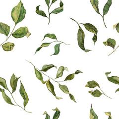 Fototapeta Inspiracje na wiosnę Floral seamless pattern in watercolor