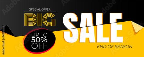 Fotografía  Special offer Big Sale banner template vector design