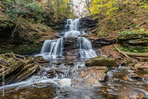 Tuscarora Waterfall in Ricketts Glen State Park of Pennsylvania