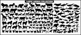 Fototapeta Sypialnia - Set of vector silhouettes of animals on a white background