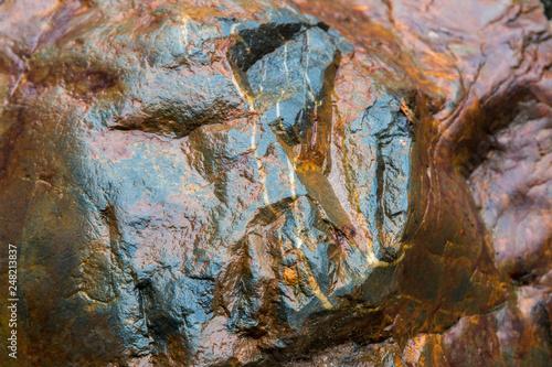 Fotografia  Wet stone texture