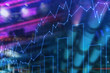 Financial graph and bar chart background