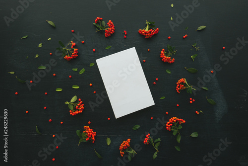 Fotografering  Hardcover book cover design mock up top view