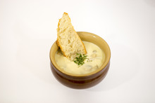 Soupe De Champignon Et Tartine