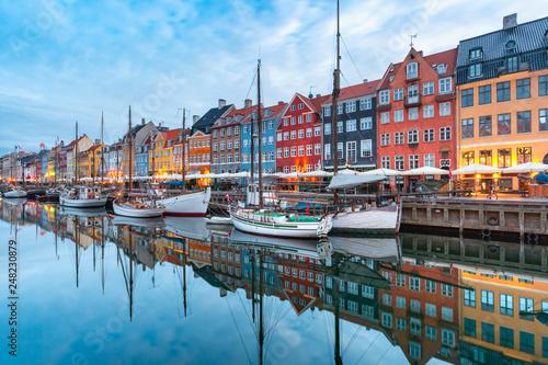 Nyhavn in Copenhagen, Denmark. Wallpaper Mural