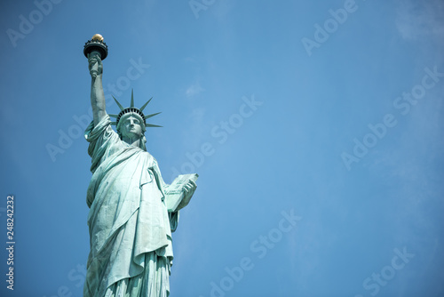 Fotografia  The Statue of Liberty isolated against the sky