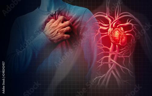 Fotobehang Hoogte schaal Heart Attack Concept