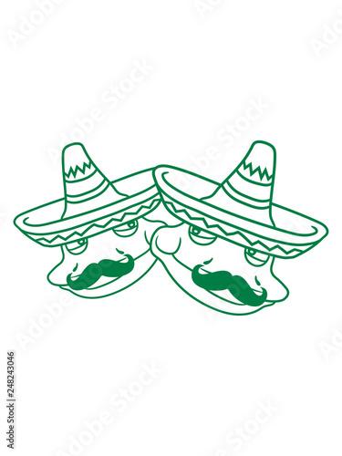 Valokuva freunde köpfe paar 2 team duo sombrero mexikaner hut südamerika schnurrbart mexi