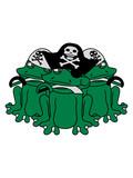crew team party matrose kapitän pirat seemann seeräuber kostüm verkleidung säbel hut mütze schwert meer schiff mannschaft frosch sizend süß niedlich lustig comic cartoon clipart froschkönig kröte