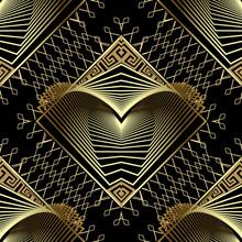 Geometric Gold Modern 3d Vecto...