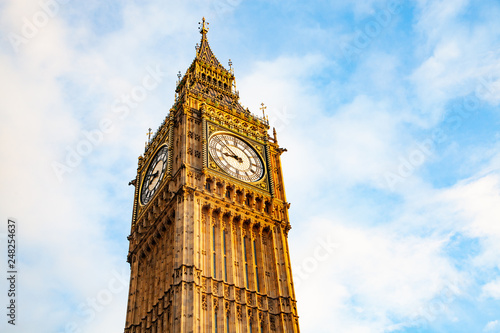 Foto auf Leinwand Akt big Ben and Houses of Parliament London UK