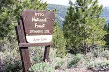 June Lake, California - Sign F...