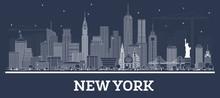 Outline New York USA City Skyl...