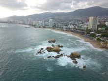 Aerial View Of Acapulco Bay
