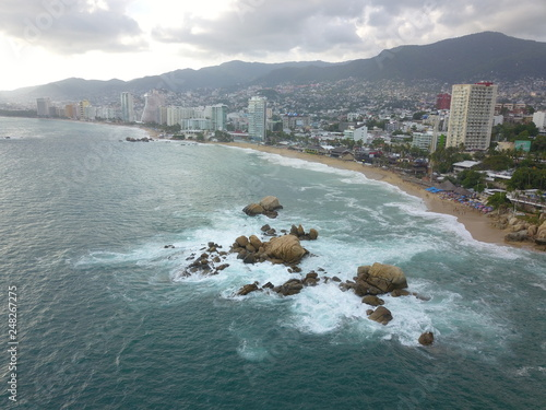 Fotografering Aerial View of Acapulco Bay