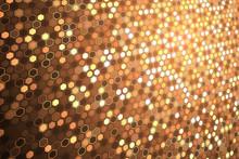 Abstract Bright Neon Background. Technology Hexagon Illustration.