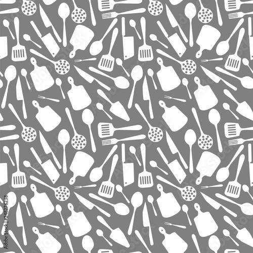 tekstura-z-naczyniami-kuchennymi-ilustracja-wektorowa-szary