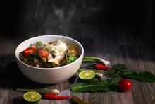 Thai Food On Table Background