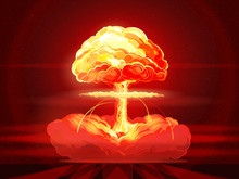 Nuclear Explosion. Atomic Bomb. Symbol Of Nuclear War, End Of  World